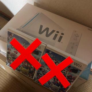 Wii - wii本体一式+黒リモコン、ヌンチャク+スマブラ2本セット