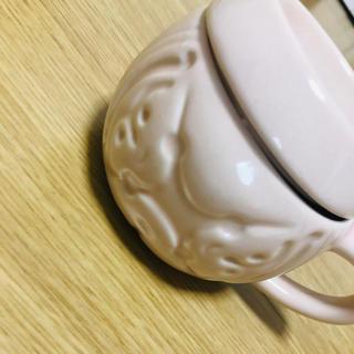 ジェンガラ(Jenggala)のジェンガラケミック マグカップ ピンクホワイト 蓋つき(グラス/カップ)