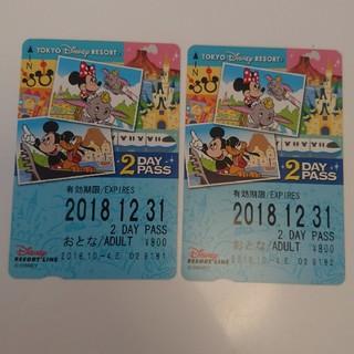 ディズニー(Disney)のディズニーリゾートライン 2dayパス ペア(鉄道乗車券)