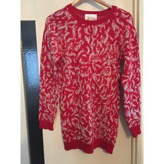 ジュンオカモト(JUN OKAMOTO)の【JUN OKAMOTO】真っ赤なニットセーター(ニット/セーター)