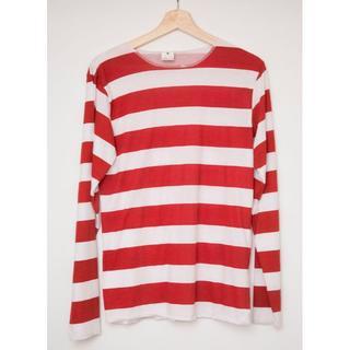 【クリーニング済】ウォーリー シャツのみ コスプレ衣装 赤ストライプ(衣装)