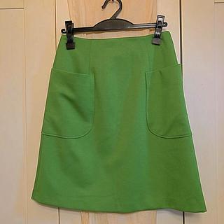 ドゥアルシーヴ(Doux archives)の昨年の台形スカート(ひざ丈スカート)