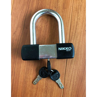 ニッコー(NIKKO)のNIKKO U字 鍵 ニッコー 自転車 バイク 原付 鍵 ツーロック 防犯(セキュリティ)