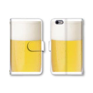 スマホケース 手帳型 全機種対応 ビール スマホカバー 送料無料 おもしろグッズ(スマホケース)