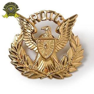US軍放出品 軍用ベレー帽バッジ US.ARMY.ROTC ゴールド(その他)