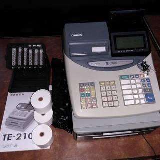 カシオ(CASIO)のカシオ電子レジスターTE-2100(店舗用品)
