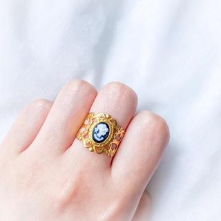 ロキエ(Lochie)の❁ Vintage rétro antique cameo gold ring(リング)