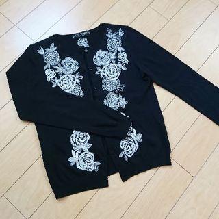 ケイタマルヤマ(KEITA MARUYAMA TOKYO PARIS)のケイタマルヤマ 刺繍カーディガン keitamaruyama(カーディガン)