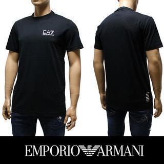エンポリオアルマーニ(Emporio Armani)の8EMPORIO ARMANIEA7 ロゴ ネイビー 半袖 TシャツS(Tシャツ/カットソー(半袖/袖なし))