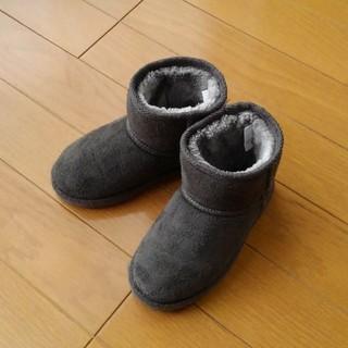 シマムラ(しまむら)のしまむら・グレームートン風ブーツ 16センチ インソール付き(ブーツ)