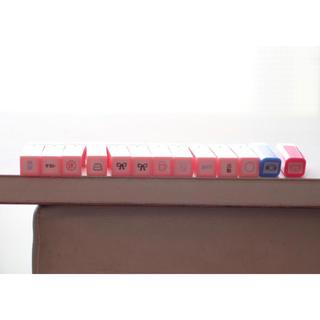 ポケットスケジュールスタンプ 浸透印ゴム印/スケジュールスタンプ/ミニスタンプ(はんこ)