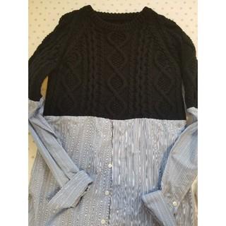 クリスヴァンアッシュ(KRIS VAN ASSCHE)のKRISVANASSCHE  ニット×シャツ(ニット/セーター)