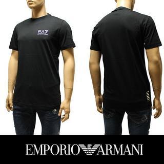 エンポリオアルマーニ(Emporio Armani)の7EMPORIO ARMANI EA7 ロゴ ブラック 半袖 TシャツL(Tシャツ/カットソー(半袖/袖なし))