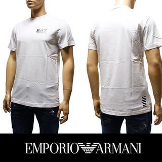 エンポリオアルマーニ(Emporio Armani)の6EMPORIO ARMANI EA7 ロゴ ホワイト 半袖 TシャツS(Tシャツ/カットソー(半袖/袖なし))