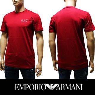 エンポリオアルマーニ(Emporio Armani)の5EMPORIO ARMANI EA7 ロゴ レッド 半袖 TシャツS(Tシャツ/カットソー(半袖/袖なし))
