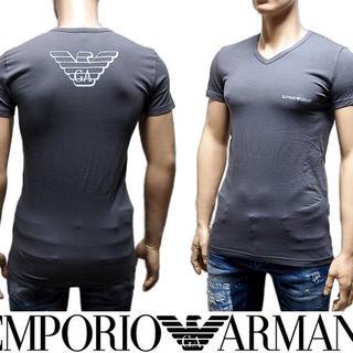 エンポリオアルマーニ(Emporio Armani)のP EMPORIO ARMANI EA7 ロゴグレー 半袖 TシャツS(Tシャツ/カットソー(半袖/袖なし))