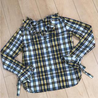 ジェイダブリューアンダーソン(J.W.ANDERSON)の未使用 ユニクロ アンダーソン チェックシャツ S(シャツ/ブラウス(長袖/七分))