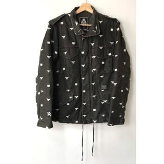 ネイバーフッド(NEIGHBORHOOD)の【H】ネイバーフッド 04 イーグル刺繍 M-65 ジャケット ブラック 3(ミリタリージャケット)