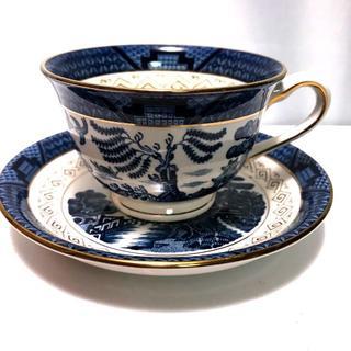ニッコー(NIKKO)の昭和レトロ、ニッコー、 山水、素敵な藍色、ウィロー、カップ&ソーサー (食器)