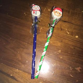 クリスマス 消しゴム付き鉛筆(鉛筆)