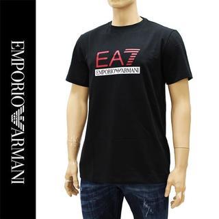 エンポリオアルマーニ(Emporio Armani)の10EMPORIO ARMANIEA7 ロゴ ブラック 半袖 TシャツS(Tシャツ/カットソー(半袖/袖なし))