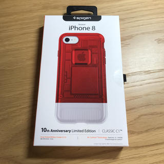 シュピゲン(Spigen)のSpigen iPhoneケース classic C1 Red(iPhoneケース)