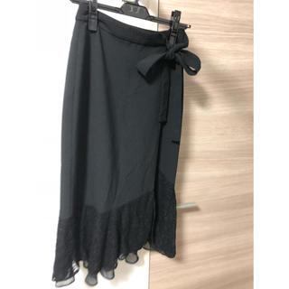 ザラ(ZARA)のZARA 裾レースラップスカート(ロングスカート)