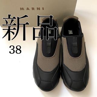 マルニ(Marni)の新 品 MARNI マルニ スニーカー ブラック38(約25.0cm)(スニーカー)