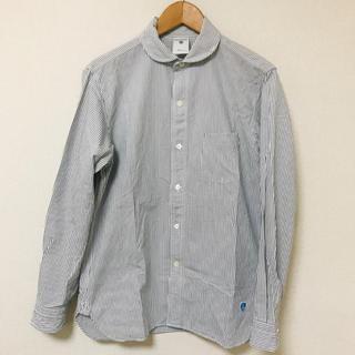 オーシバル(ORCIVAL)のORCIVAL オーシバル ビショップ ストライプシャツ シャツ サイズ4 L(シャツ)