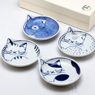 ハサミ(HASAMI)の猫 小皿セット 波佐見焼 白山陶器 クラスカ イデー 九谷焼(食器)