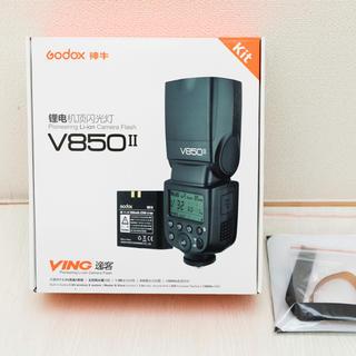 キヤノン(Canon)のgodox  v850 Ⅱ 確認のみの未使用品 クリップオン ストロボ(ストロボ/照明)