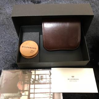 ガンゾ(GANZO)のWILD SWANS PALM チョコ(折り財布)