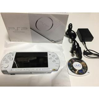 プレイステーションポータブル(PlayStation Portable)のpsp-3000 本体 ソフト付き(家庭用ゲーム本体)
