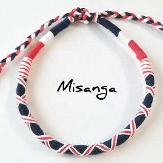 ★Misanga★イギリスカラー 足首用 ●手首サイズに変更可●(アンクレット)