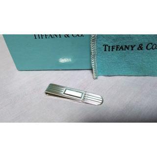 ティファニー(Tiffany & Co.)の正規美 激レア ティファニー 鏡面×ストライプ ショートネクタイピン 3.8cm(ネクタイピン)