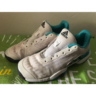 アディダス(adidas)のadidas アディダス バリケード テニスシューズ 錦織圭 20cm 3回使用(シューズ)