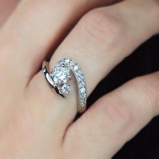 値下げ☆早い者勝ち!CZダイヤリング指輪(リング(指輪))