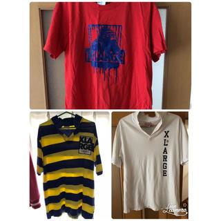 エクストララージ(XLARGE)のXLARGE  エクストララージ  ポロシャツTシャツセット(Tシャツ/カットソー(半袖/袖なし))