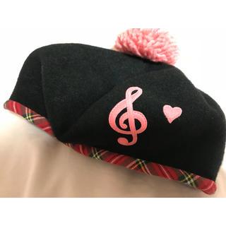 シャーリーテンプル ベレー帽 音符