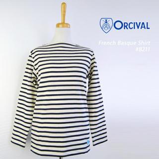 オーシバル(ORCIVAL)の【美品】ORCIVAL オーシバル ボーダー トップス(バスクシャツ(カットソー(長袖/七分))