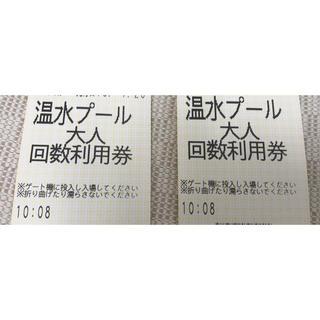 (ryukaz's様専用)飛島村温水プール利用券 大人8枚 小人8枚(プール)