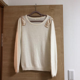 クチュールブローチ(Couture Brooch)の試着のみ♡ふわふわ肩リボンニット(ニット/セーター)