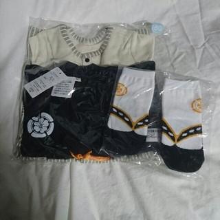 羽織付き 袴ロンパースと足袋風靴下(和服/着物)