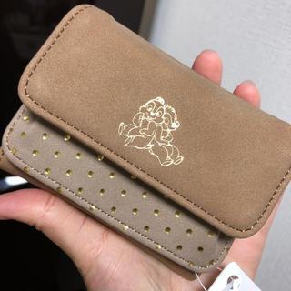 ディズニー(Disney)のチップとデール スエード素材ミニ財布♡(財布)