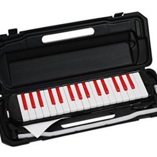 【バカ売れ!!大人気!】鍵盤ハーモニカ ブラック×レッド(その他)