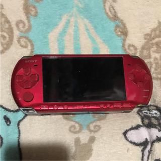 プレイステーションポータブル(PlayStation Portable)のPSP 3000 本体 ラディアントレッド(携帯用ゲーム本体)
