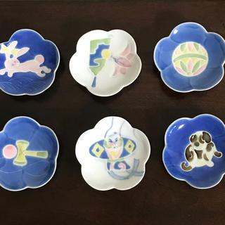 コウランシャ(香蘭社)のお正月にも!箸置き 豆皿6枚セット(食器)