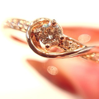 にゃんこ日和様専用✨k18 K18PG ブラウンダイヤモンド リング 11号(リング(指輪))