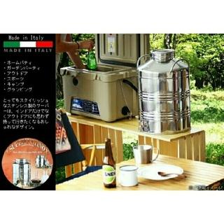 コールマン(Coleman)のイタリアmarchisio製ステンレスウォータージャグ  キャンプに 新品未使用(調理器具)