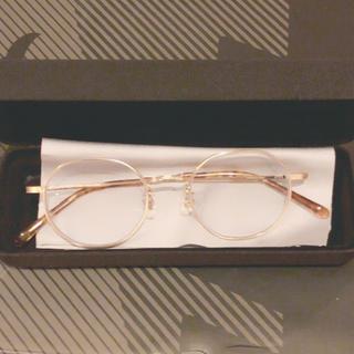 ジンズ(JINS)のJINS メガネ クラシック メタル ALMF17S119N96 ゴールド(サングラス/メガネ)